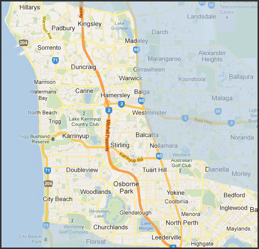 North perth map my blog for Landscapers adelaide western suburbs